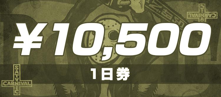 1日券 10,500円